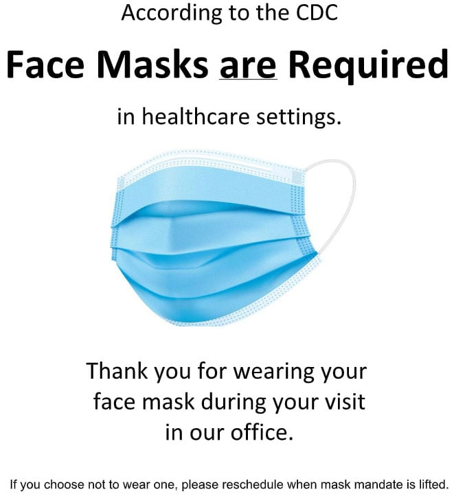 Face Masks are Required
